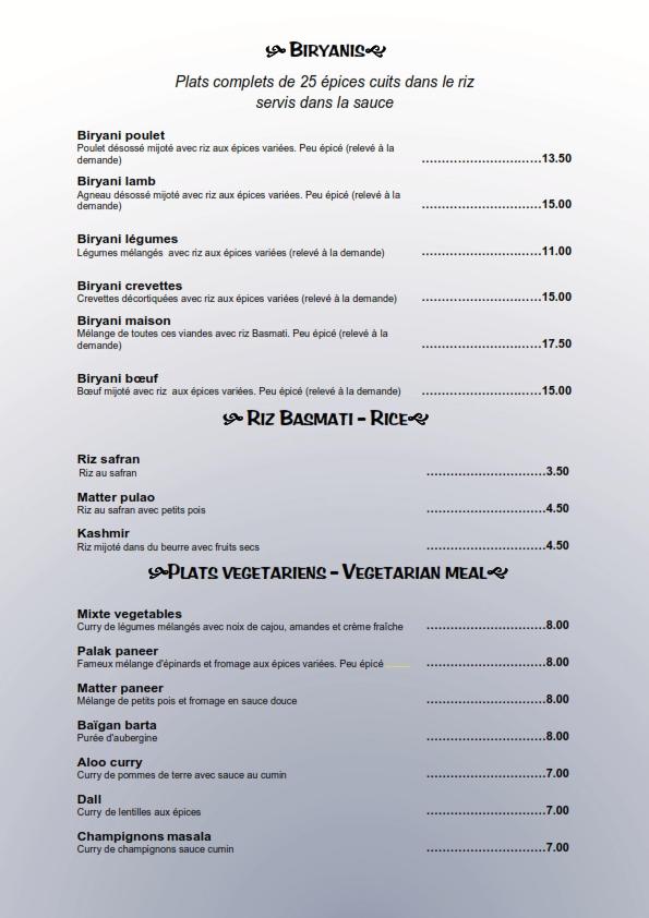 Exceptionnel Le Palais de l'Inde à Thonon-restaurant gastronomique indien  OX89